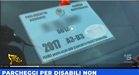 Un parlamentar român parchează pe locul de parcare destinat persoanelor cu dizabilități …în Italia