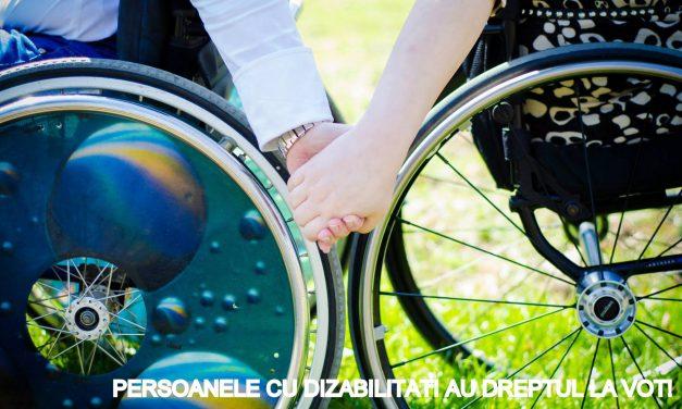 Persoanele cu dizabilități au dreptul la vot!